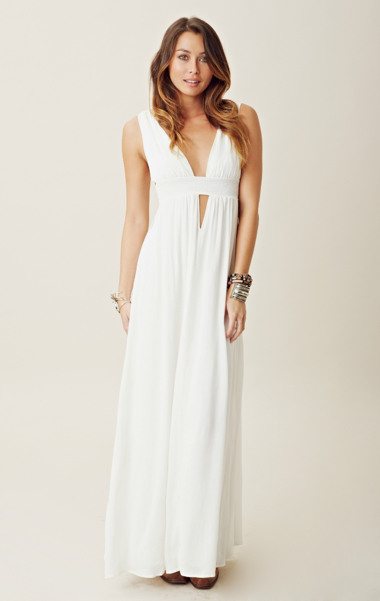 WHITE MAXI DRESS - Tamunsa Delen