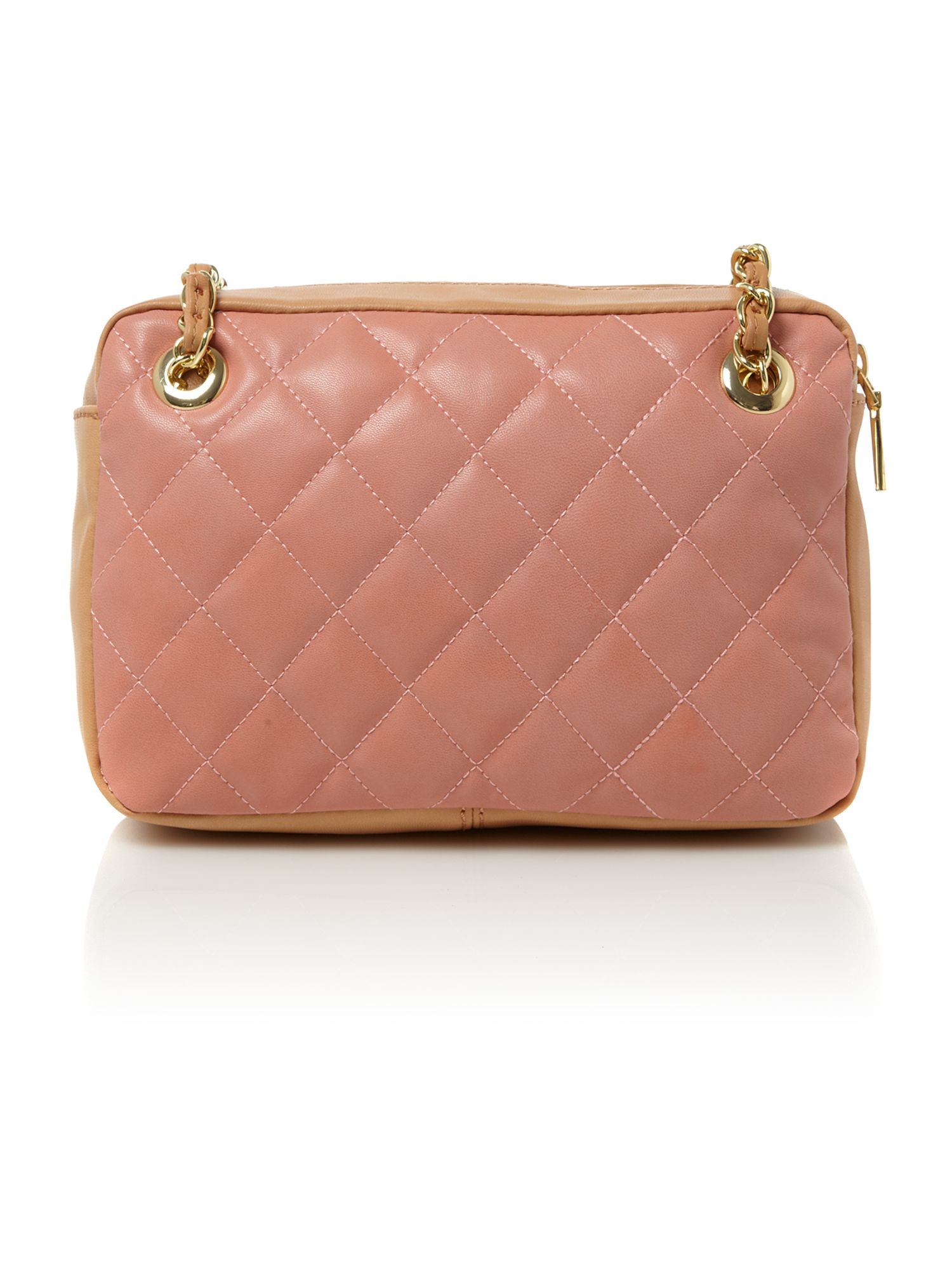 love moschino quilted bowling bag in pink lyst. Black Bedroom Furniture Sets. Home Design Ideas