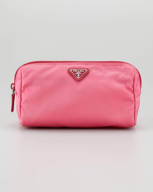 26b26f85b385 ... black nylon satchel bag bonus prada makeup bag 202.5 5ad89 62f21  cheapest prada vela cosmetic bag in pink lyst c00ec bc684 ...