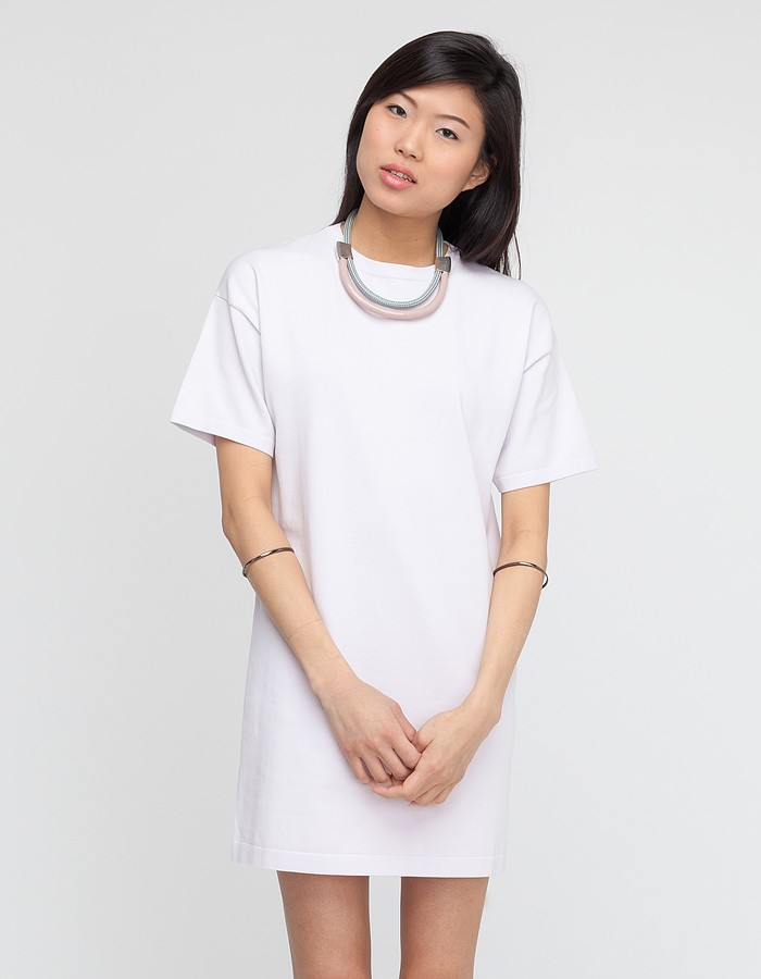 T By Alexander Wang White Tee Dress with Jersey Back