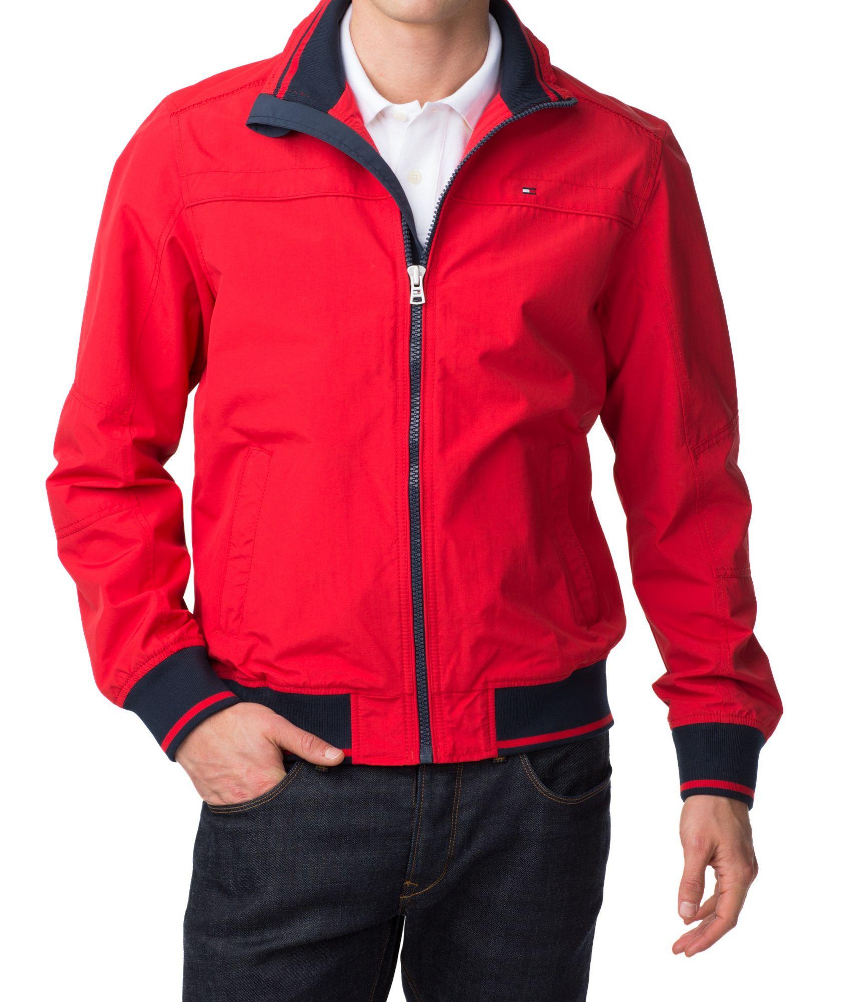 tommy hilfiger matt bomber jacket in red for men purple lyst. Black Bedroom Furniture Sets. Home Design Ideas