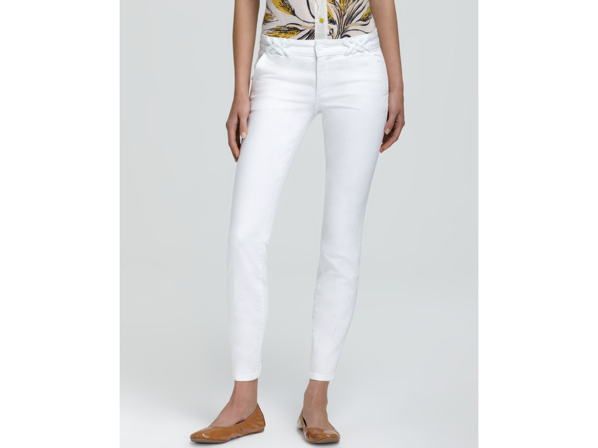 cropped straight leg jeans - White Tory Burch Clearance How Much HiLmzY1k