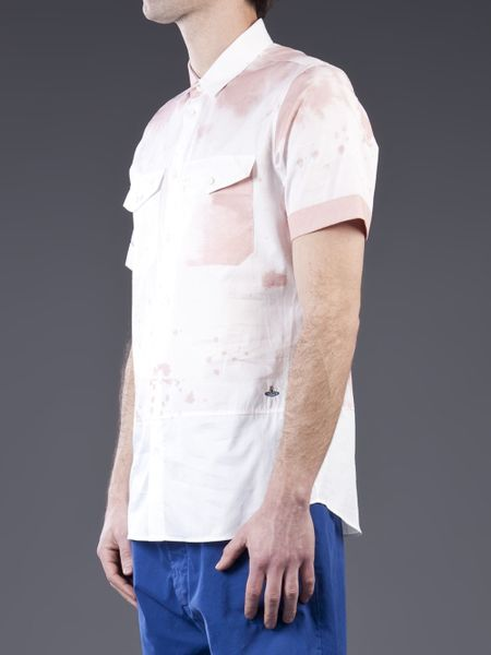 Vivienne westwood wine stain shirt in purple for men wine for Wine stain white shirt