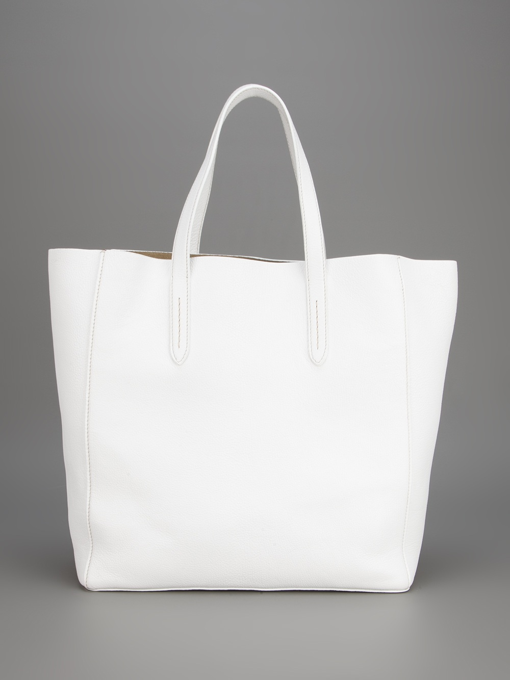 Car Shoe Madras Tote with Pouch in White