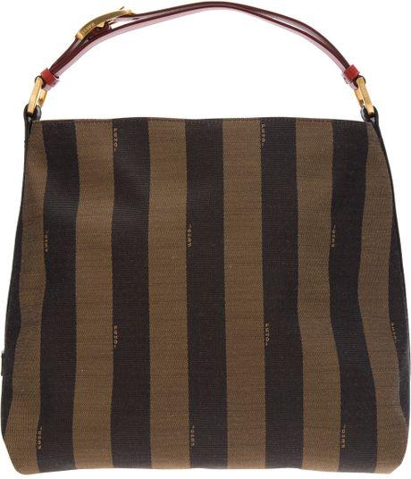 edce1ae3d2 ... Thin Striped Fendi Handbags: Fendi Striped Tote In Brown