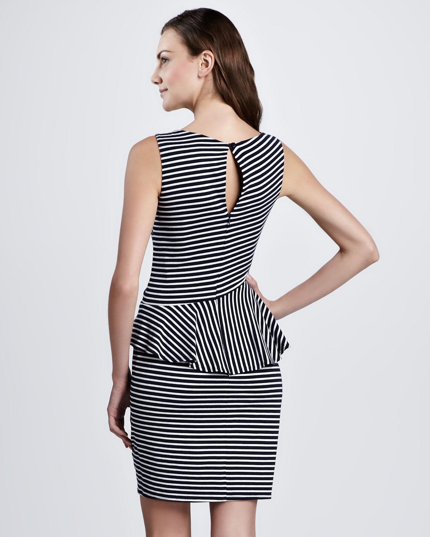 Laundry by shelli segal black long one sleeve beaded cuff dress