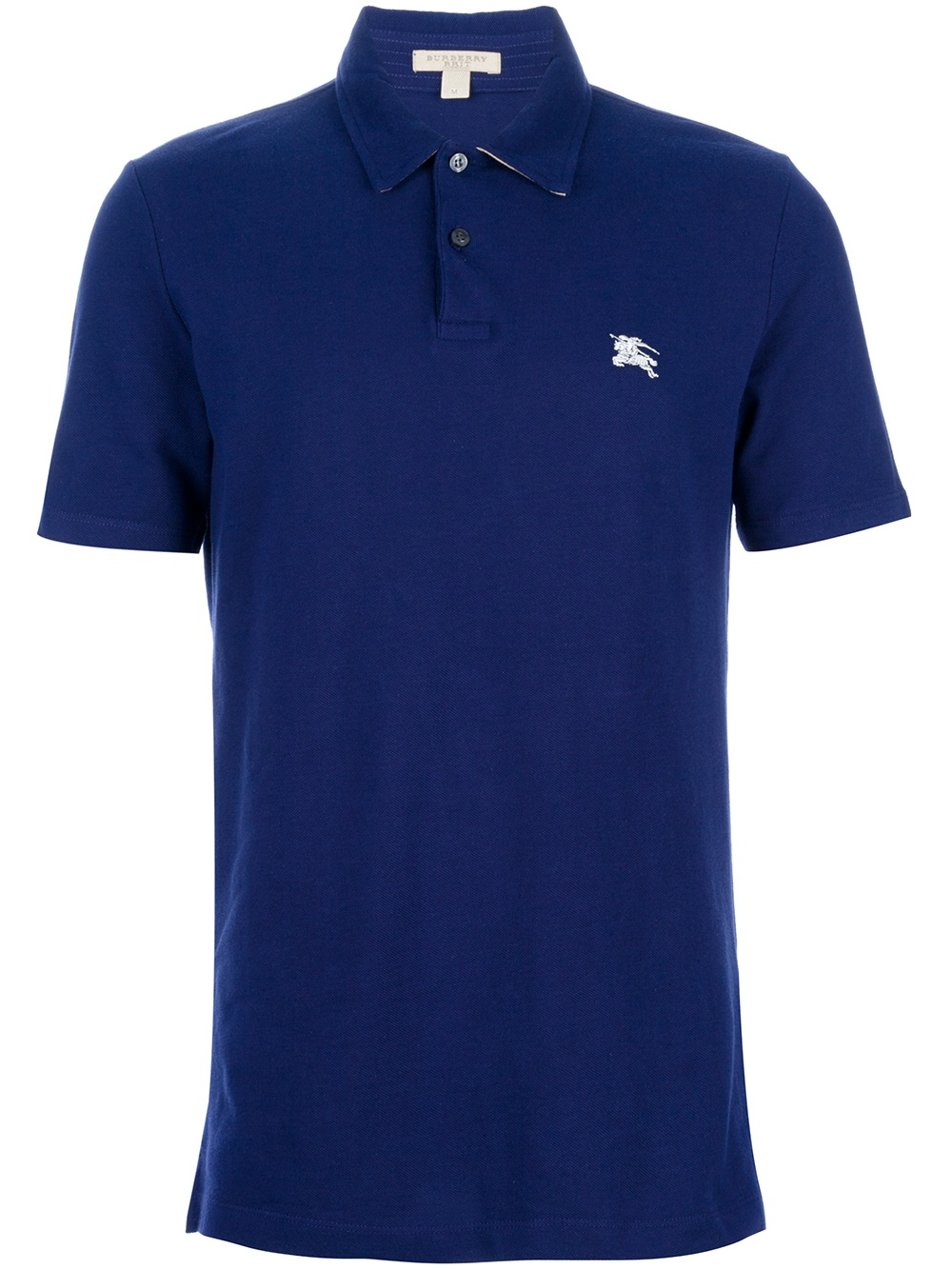 Burberry Brit Brand Print Polo Shirt In Blue For Men