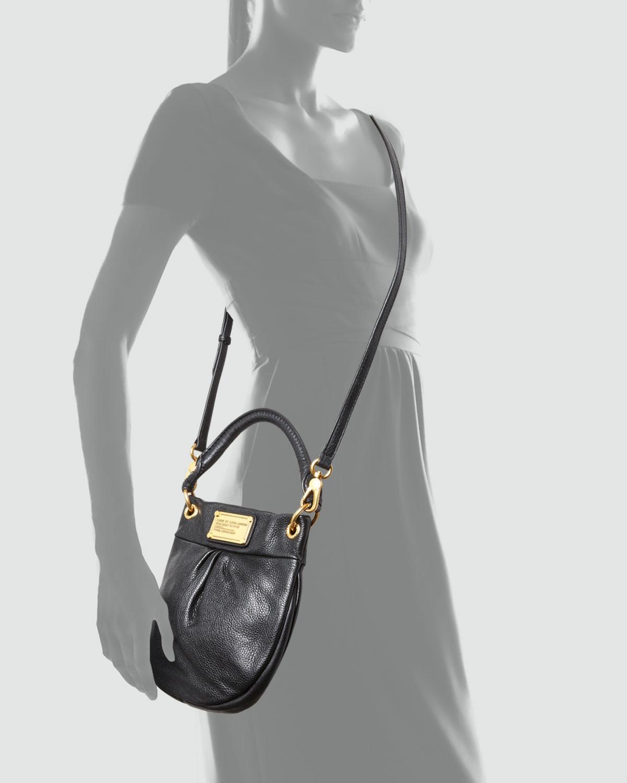 7ca5dd1370e1a Marc By Marc Jacobs Classic Q Mini Hillier Hobo Bag in Black - Lyst