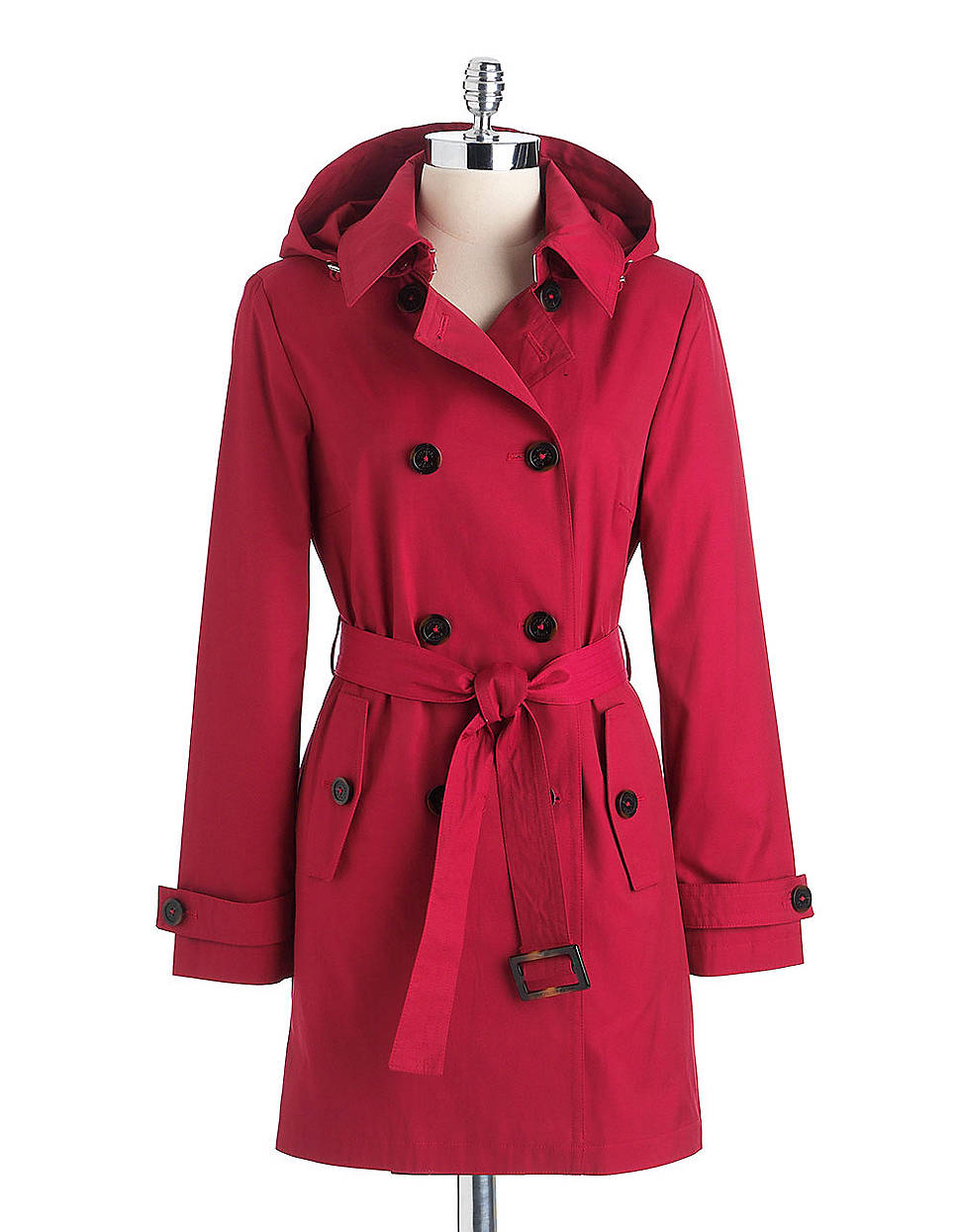 Michael kors Double Breasted Trench Coat in Pink   Lyst