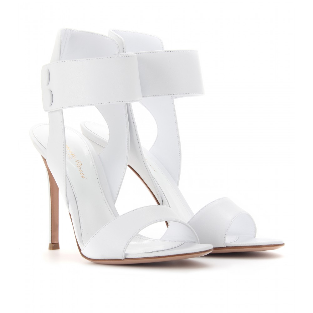 Scarpe Sposa Stuart Weitzman 2013.Gianvito Rossi Nappa Leather Sandals In White Lyst