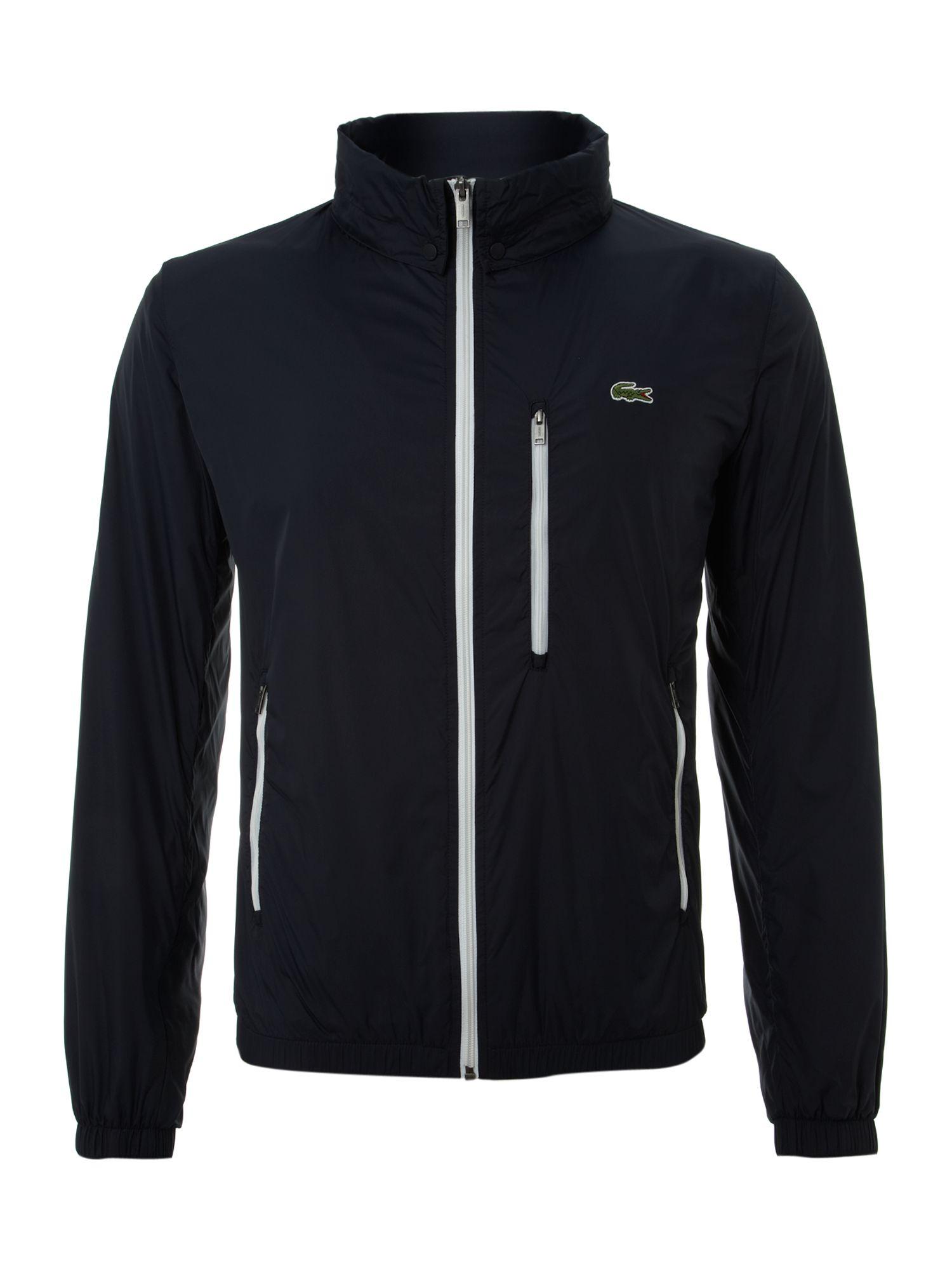 Lacoste Zip Through Hooded Jacket In Black For Men Lyst