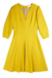 Matthew Williamson Winter Crepe Lantern Sleeve Dress in Moss - Lyst