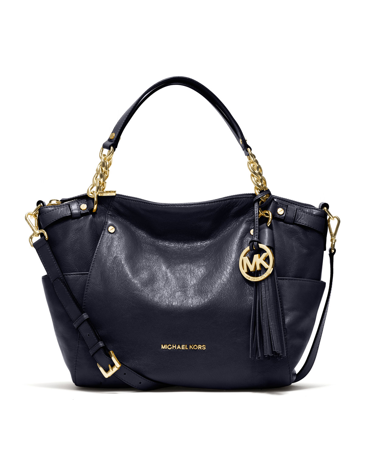 michael kors large devon satchel in blue lyst. Black Bedroom Furniture Sets. Home Design Ideas