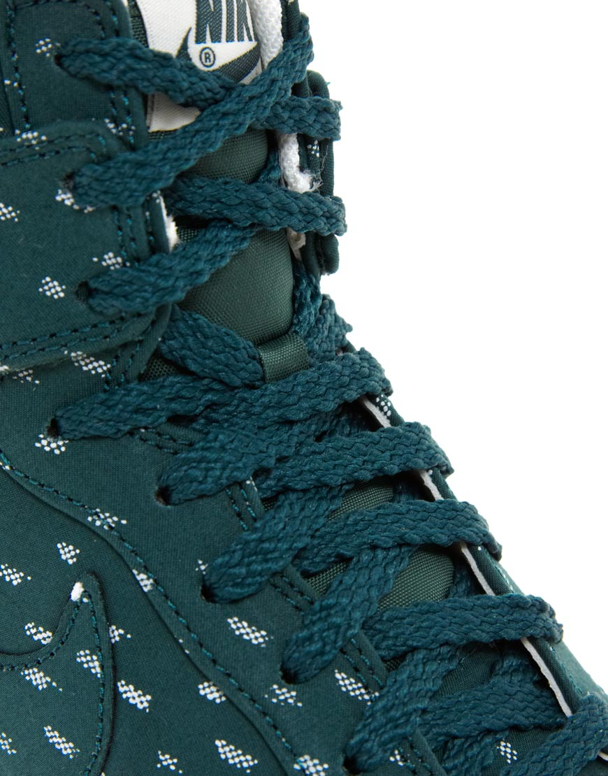 Nike Blue Dunk Sky High Top Green Wedge Sneakers