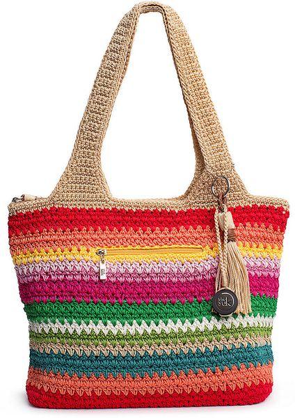 The Sak Purse Crochet : The Sak Casual Classics Large Tote in Multicolor (gypsy stripe) Lyst