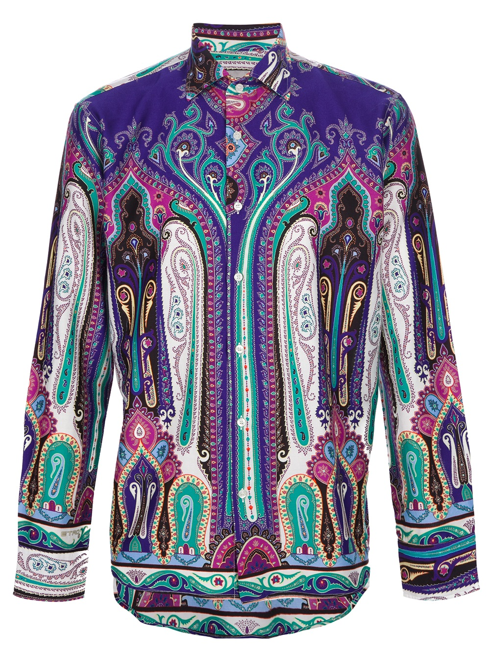 etro printed shirt in multicolor for men lyst