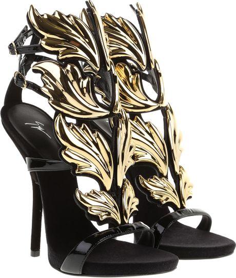 Giuseppe Zanotti Cruel Summer Sandals In Black Leather And