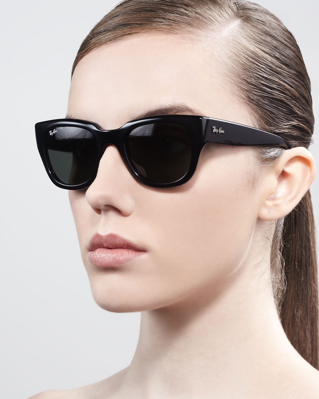 black aviator sunglasses womens ray ban