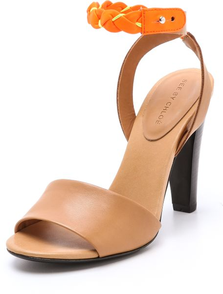 See By Chlo 233 High Heel Sandals With Braided Ankle Strap In