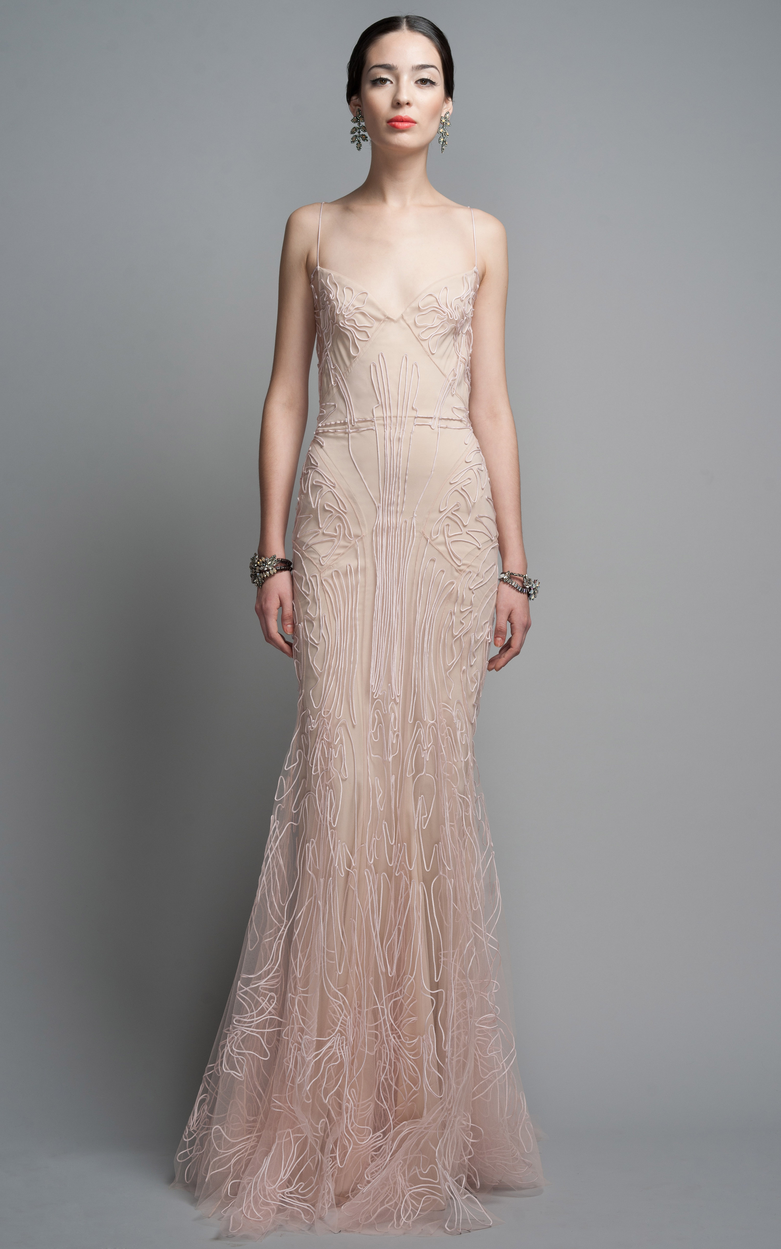 Zac Posen Evening Gown In Pink Blush Lyst