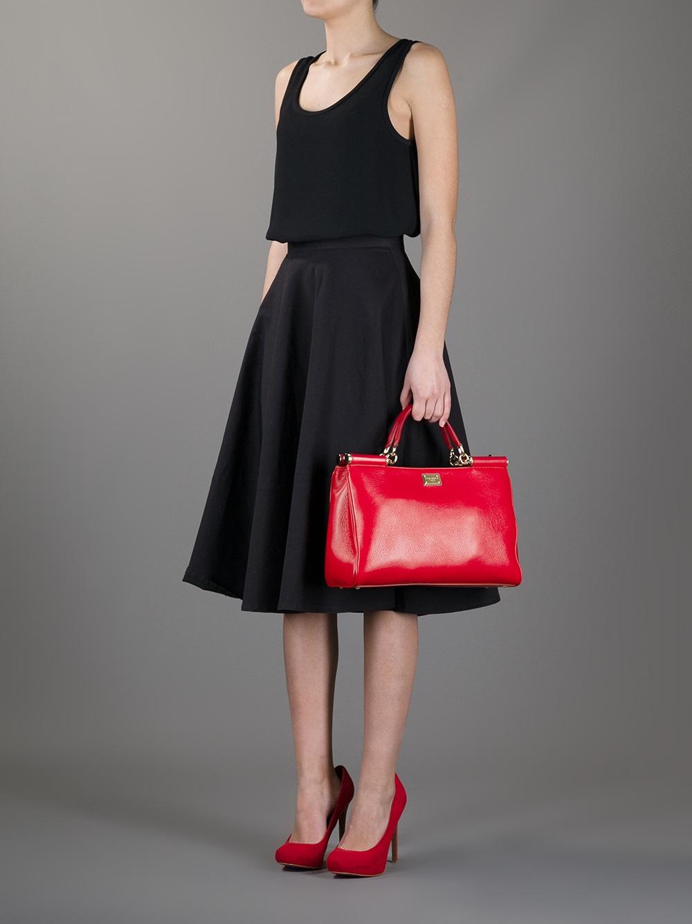 Dolce & Gabbana Frame Tote Bag in Red