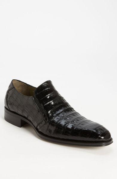 Mezlan Fiorello Crocodile Loafer In Black For Men Dark