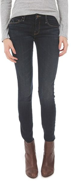 Mother The Looker Jeans in Blue (jaded)