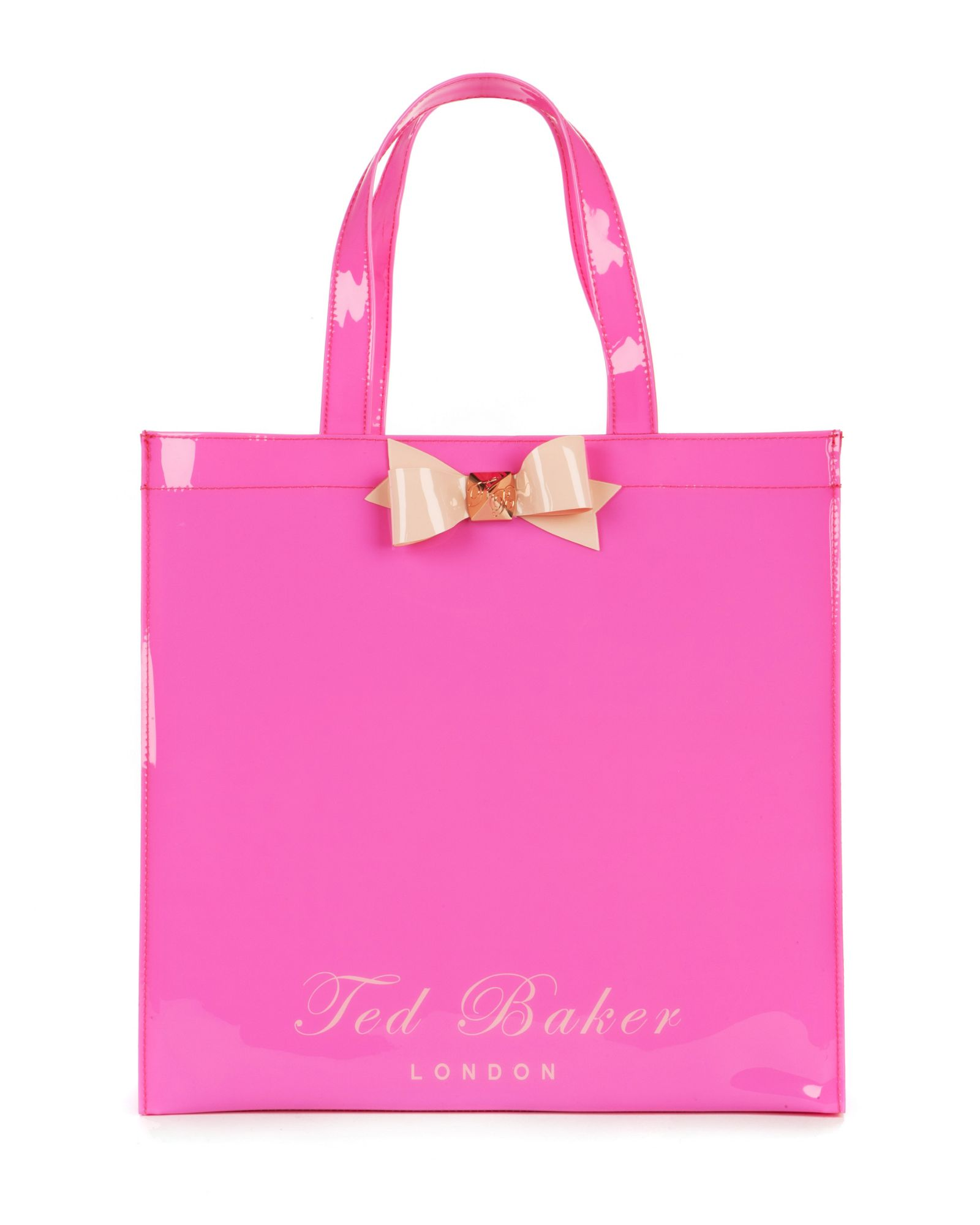 ted baker bigcon bow shopper bag in pink lyst. Black Bedroom Furniture Sets. Home Design Ideas