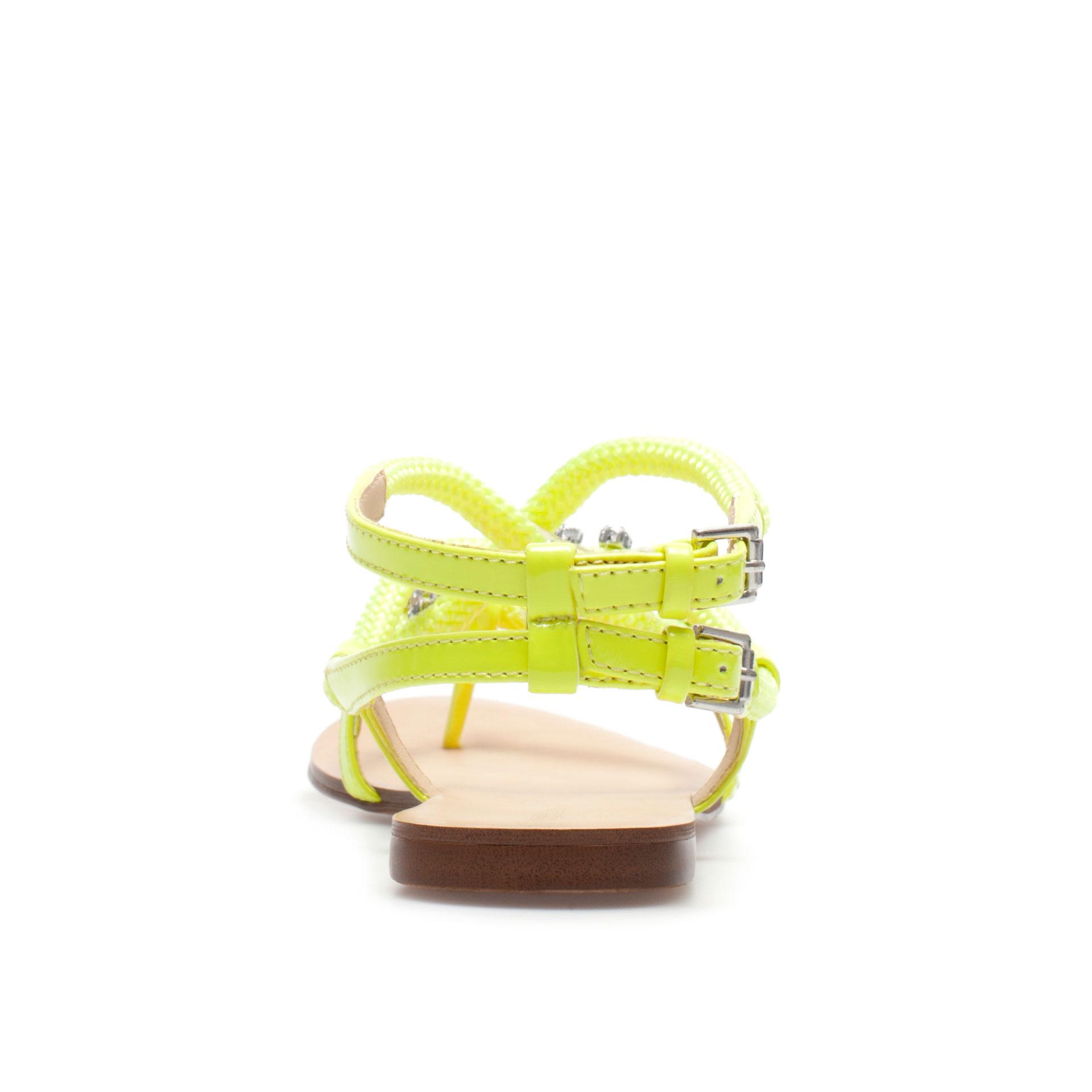 Zara Neon Strappy Sandal in Yellow   Lyst