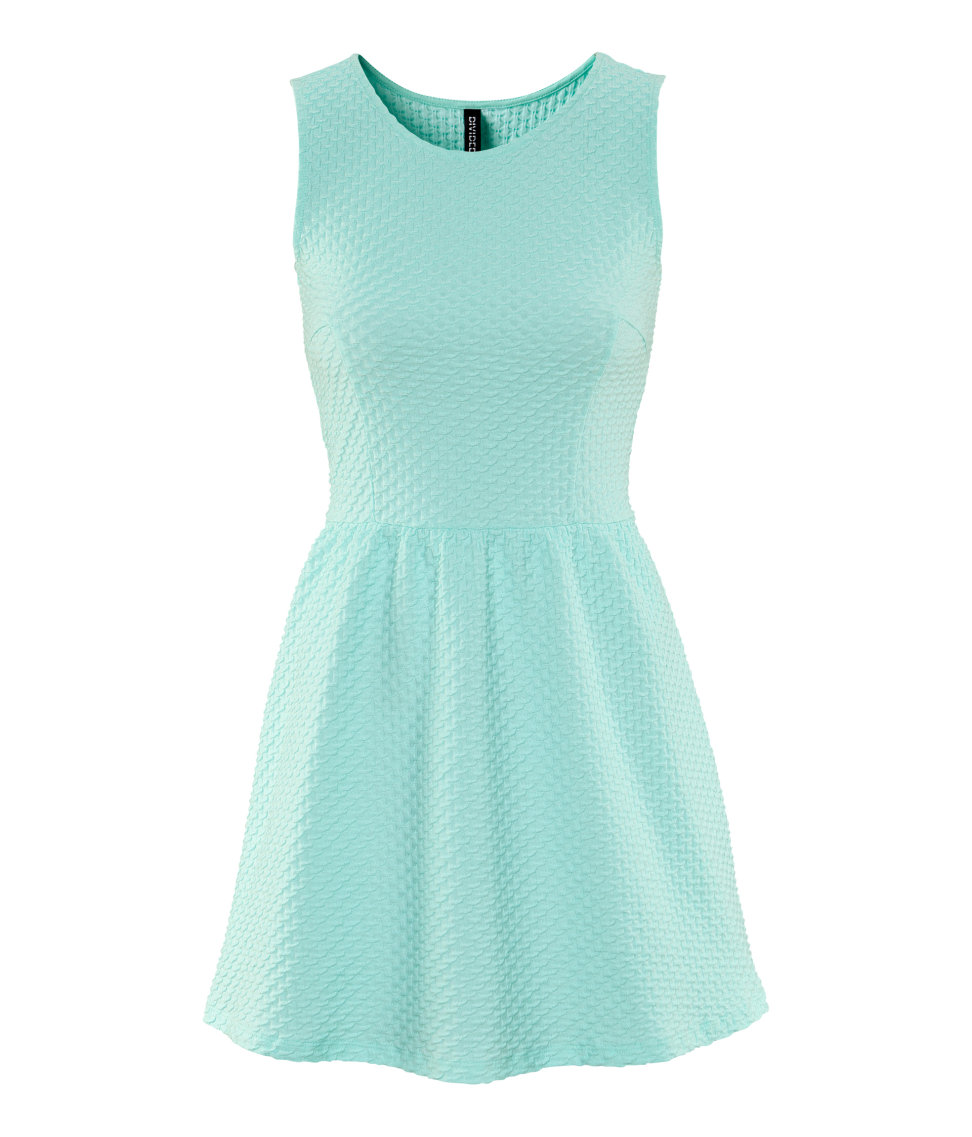 Lyst H Amp M Dress In Blue