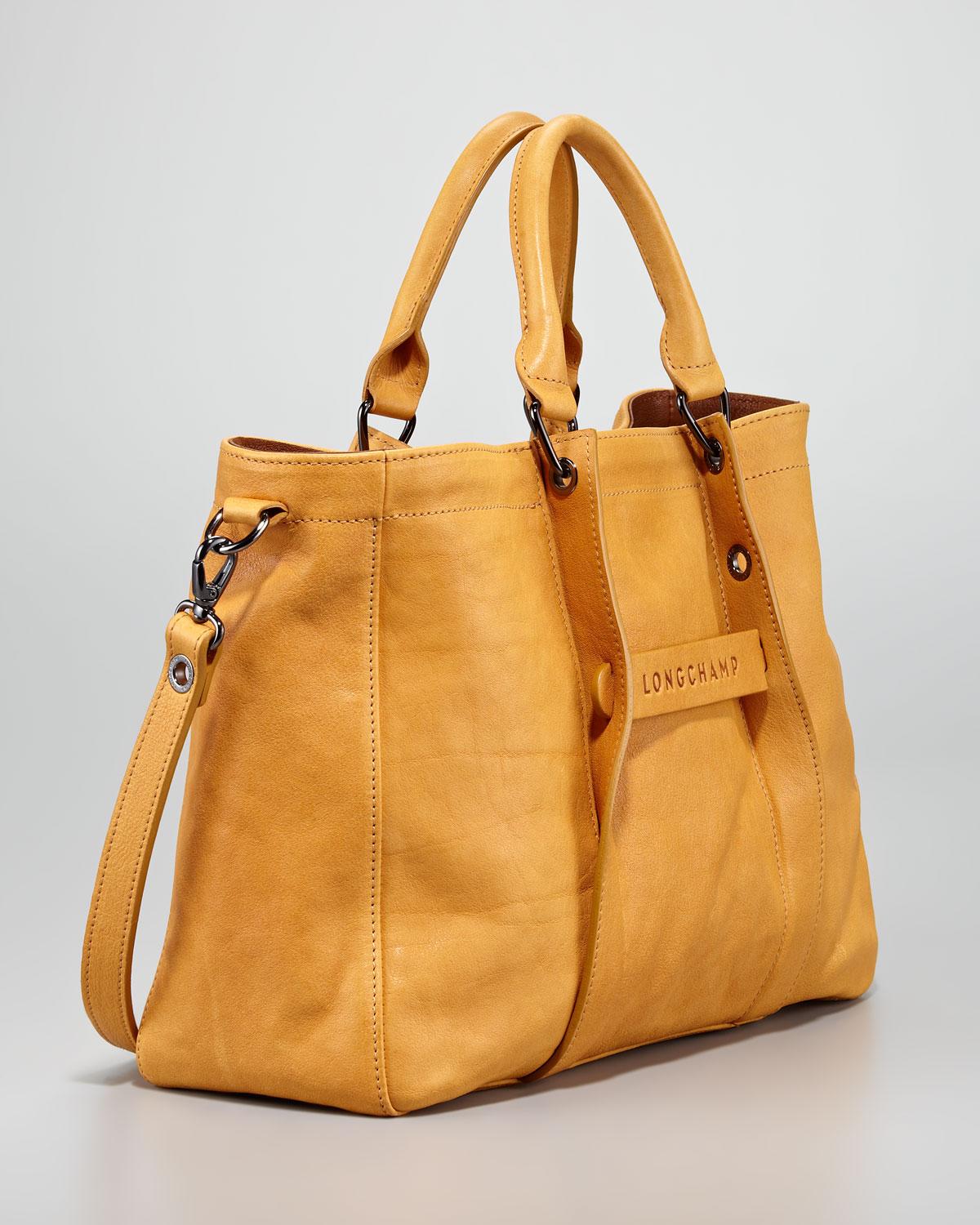 4f7e63a55062 Lyst - Longchamp 3d Logo Small Tote Bag in Brown