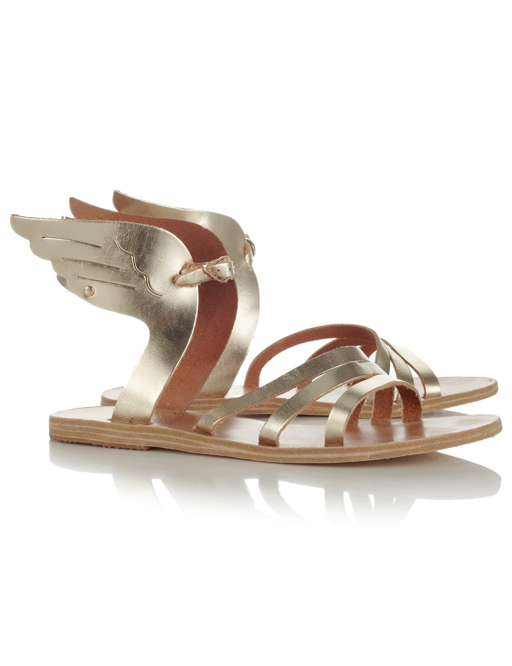 Ancient Greek Sandals Gold Ikaria Winged Sandals In