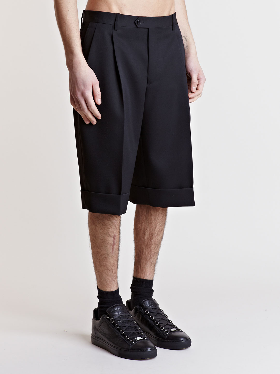 Balenciaga Tailored Shorts in Black for Men | Lyst