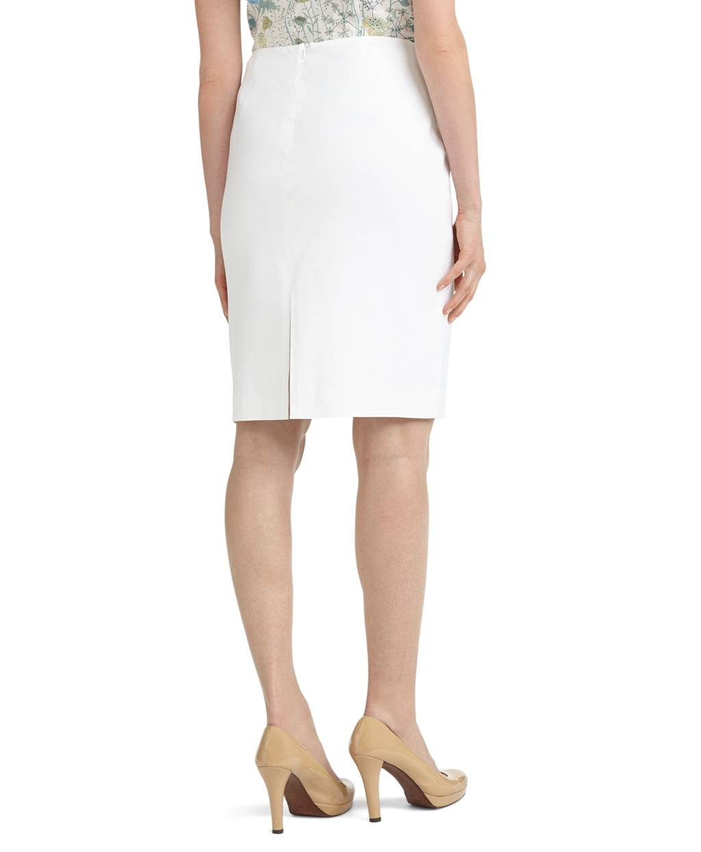Lyst - Brooks brothers Linen Pencil Skirt in White