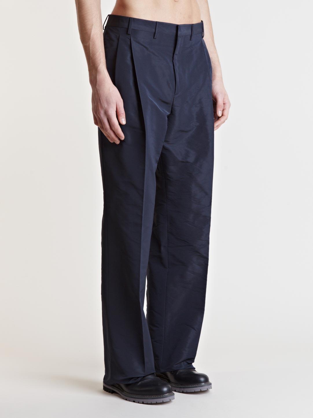 Lanvin Wide Leg Trousers in Blue for Men | Lyst