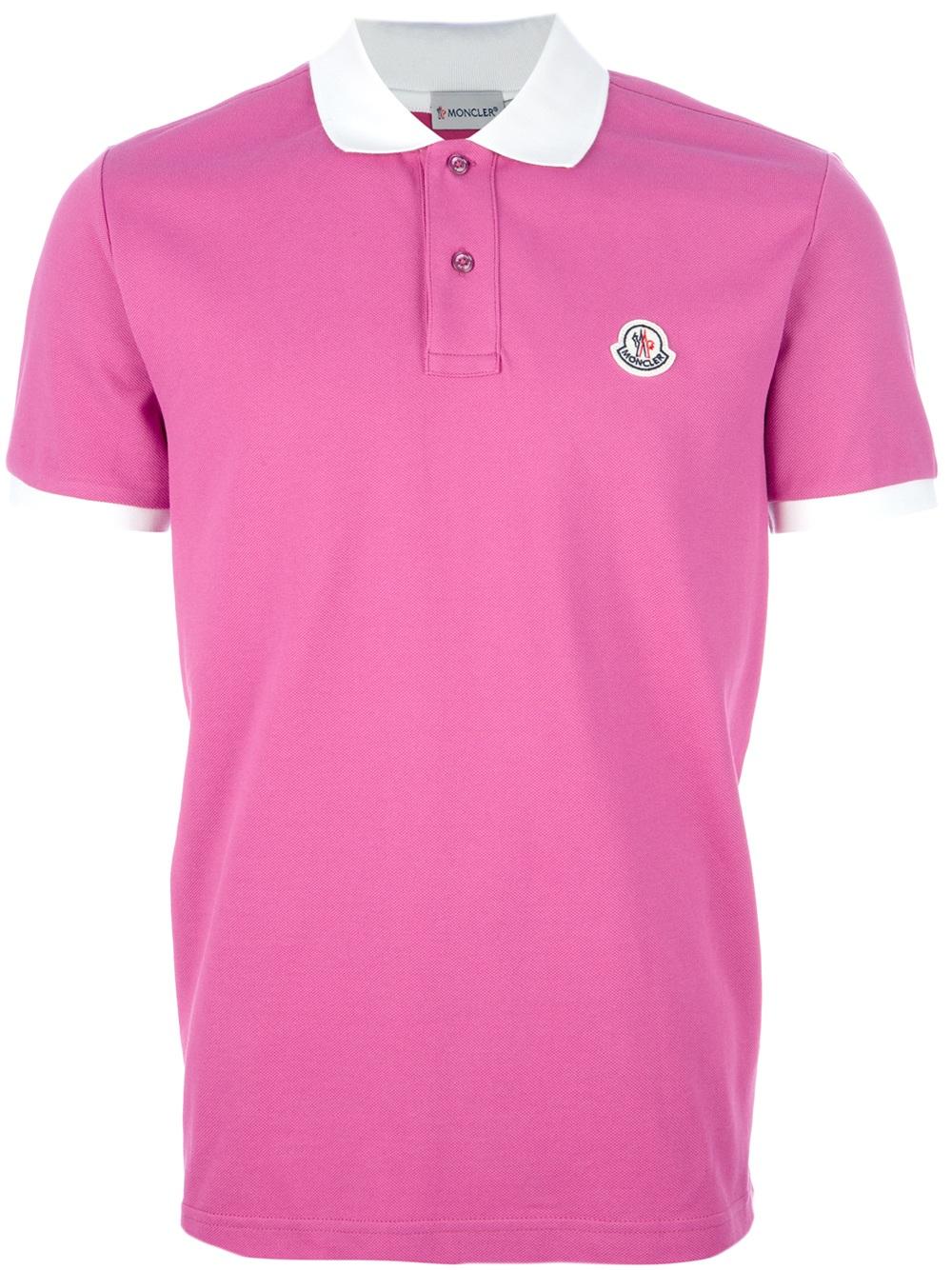 For In Polo Pink Lyst Men Moncler Shirt xQrthdsC