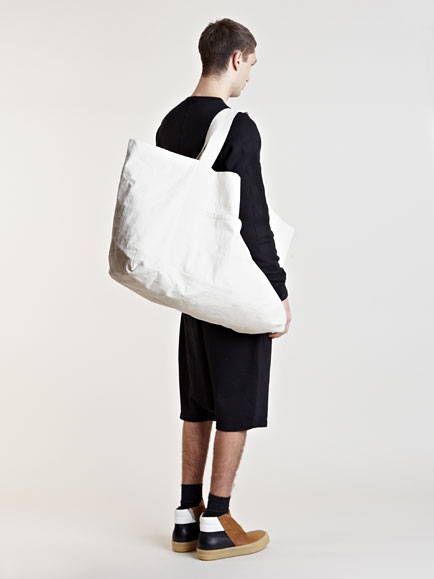 Rick owens Oversized Canvas Bag in White for Men | Lyst