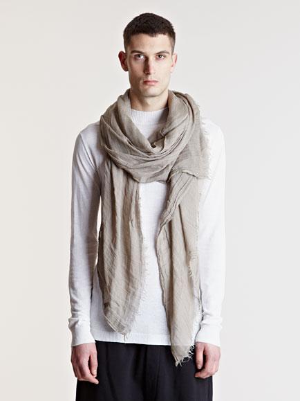 rick owens mens linen blend scarf for lyst