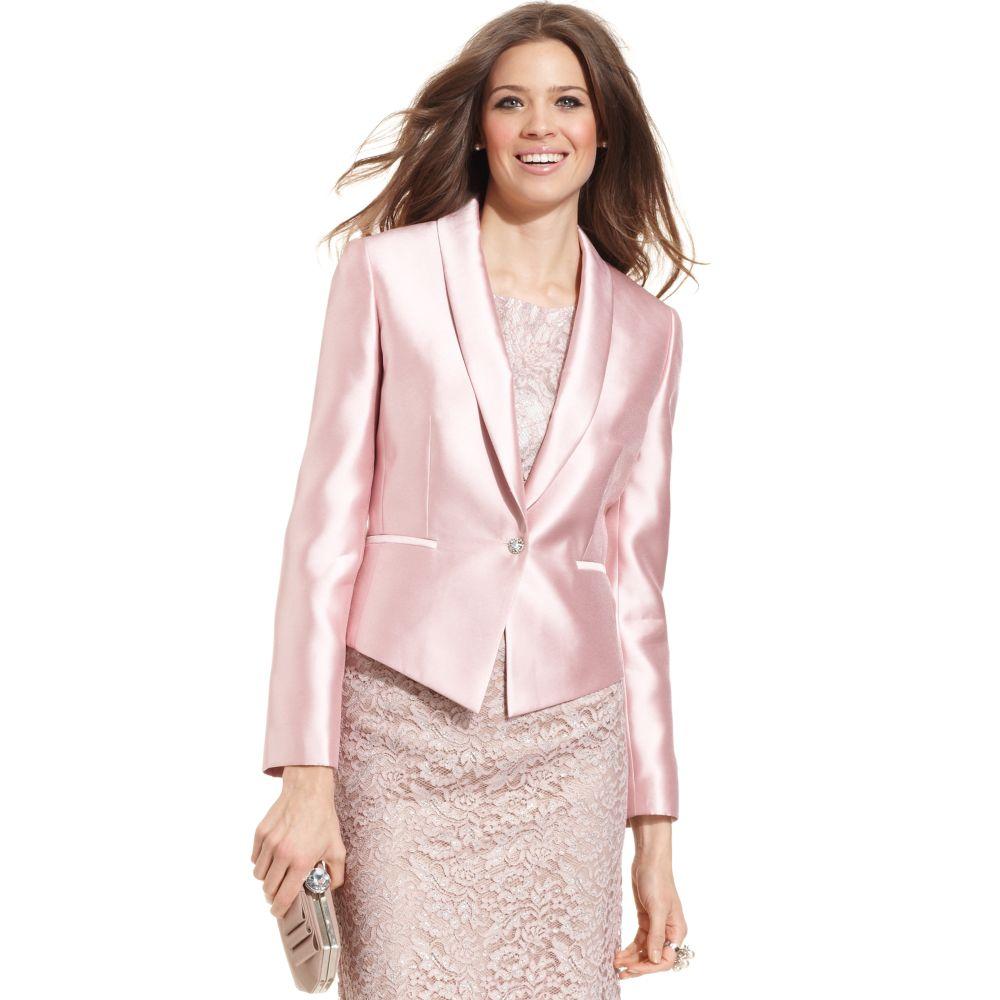 Lyst Tahari Taffeta Evening Blazer In Pink
