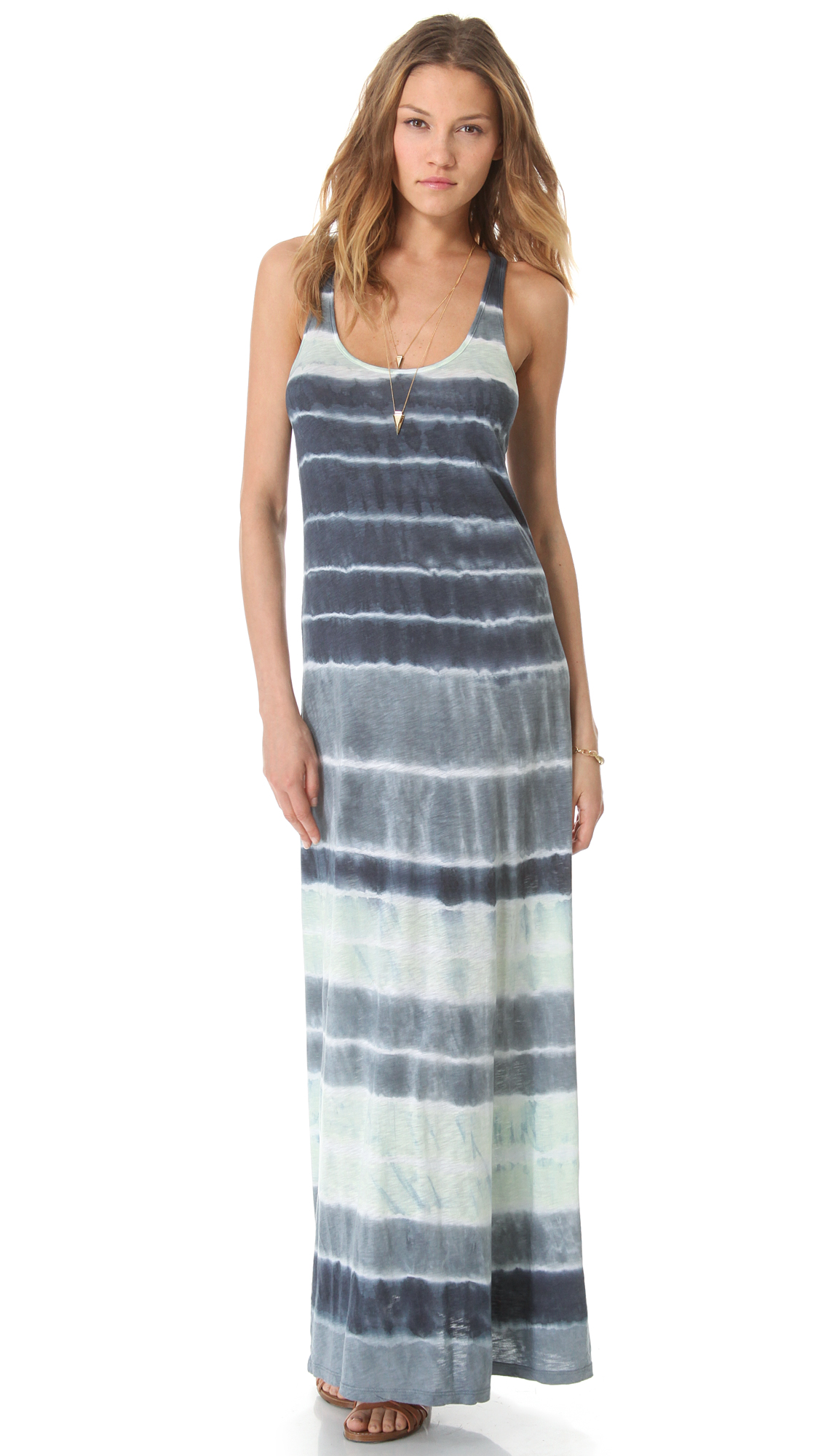 Velvet laura tie dye maxi tank dress