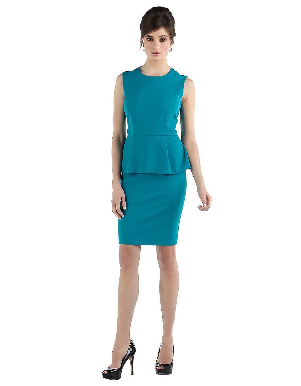 Lyst Calvin Klein Sleeveless Peplum Dress In Blue
