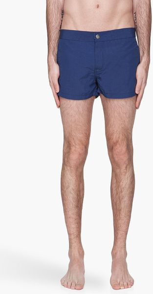 Diesel Navy Pleated Bmbx Coralriff Boxer Swim Shorts - Lyst