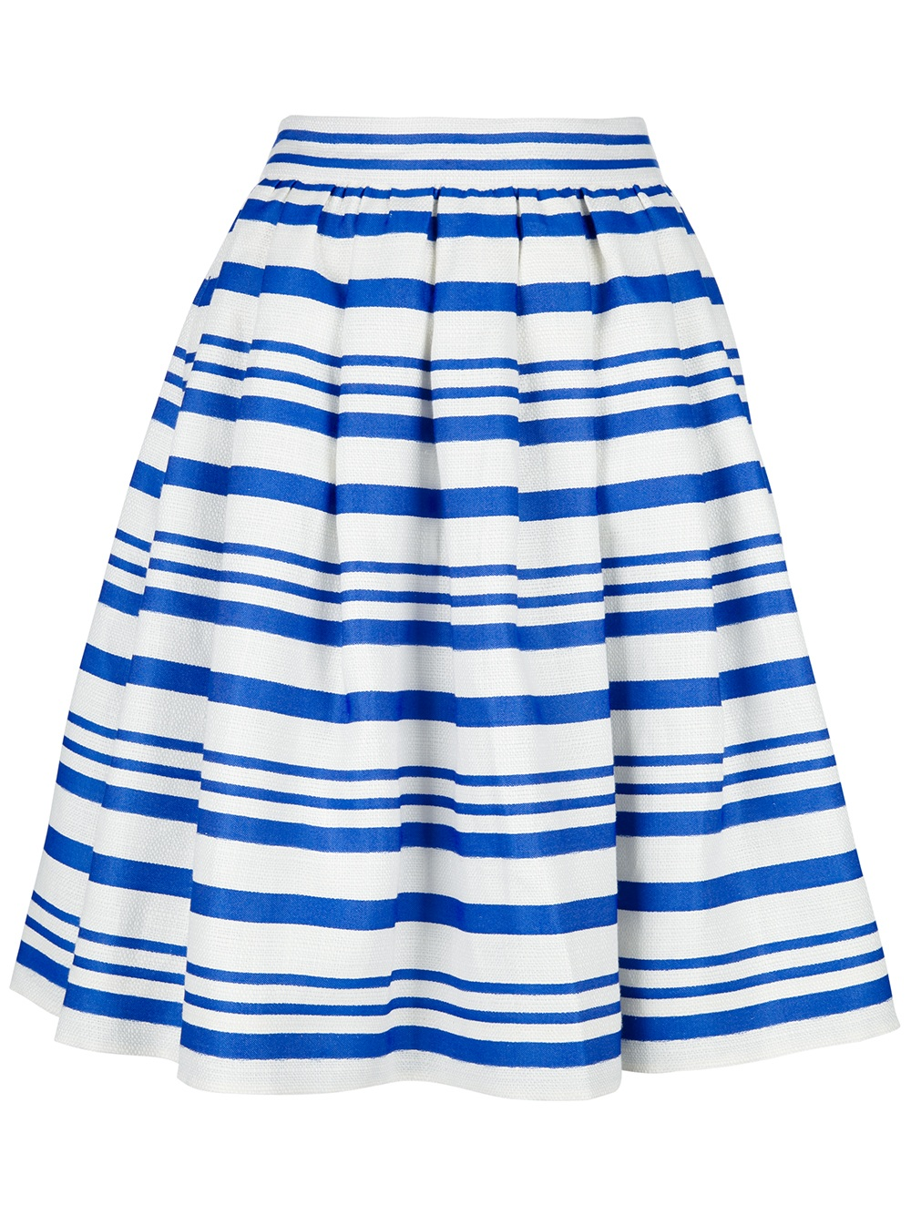 dolce gabbana striped skirt in blue white lyst