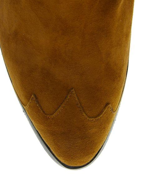 Ganni Tabitha Tan Cowboy Ankle Boots In Brown Tan Lyst