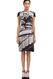 Mary Katrantzou Printed Cap Sleeve Dress - Lyst