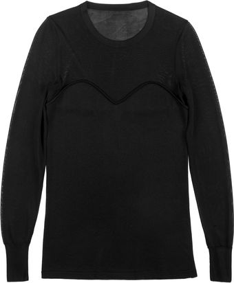 Isabel Marant Clay Shiny Knit Pullover in Black - Lyst