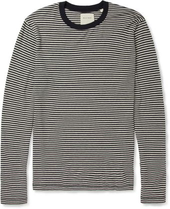 Billy Reid Striped Cotton and Cashmereblend Longsleeved Tshirt - Lyst