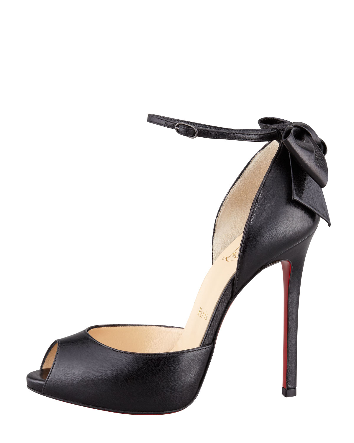 bec021b34c17 Lyst - Christian Louboutin Dos Noeud Backbow Dorsay Red Sole Pump ...