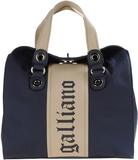 John Galliano Medium Fabric Bags in Blue (dark blue) - Lyst