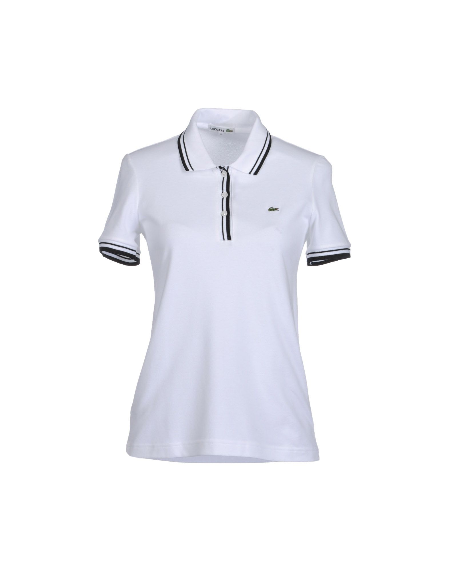 Lacoste polo shirts in white lyst for Lacoste poloshirt weiay